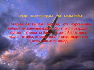 Құстар - жануарлардың маңызды тобы Құстар-екі аяқты, екі қанатты, үсті қаурсы