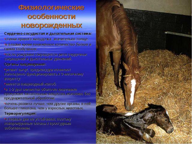 Физиологические особенности новорожденных Сердечно-сосудистая и дыхательная с...