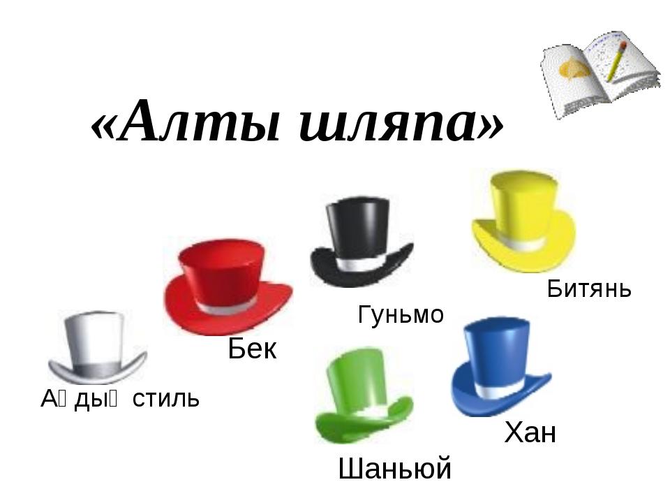 «Алты шляпа» Аңдық стиль Бек Гуньмо Хан Шаньюй Битянь