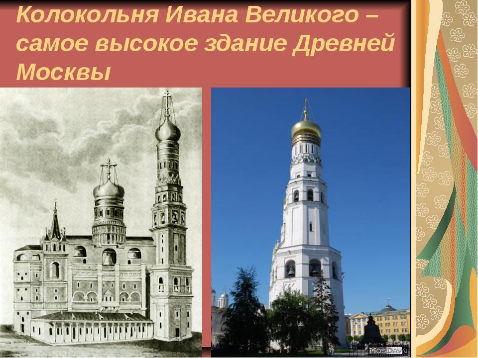 Колокольня Ивана Великого – самое высокое здание Древней Москвы