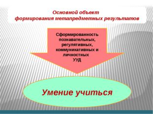 Сформированность познавательных, регулятивных, коммуникативных и личностных