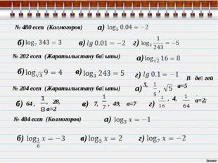 а) в) г) № 480 есеп (Колмогоров) а) а) а) б) б) б) в) в) в) г) г) г) б) № 202