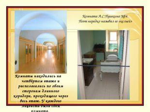 Комнаты находились на четвёртом этаже и располагались по обеим сторонам длинн