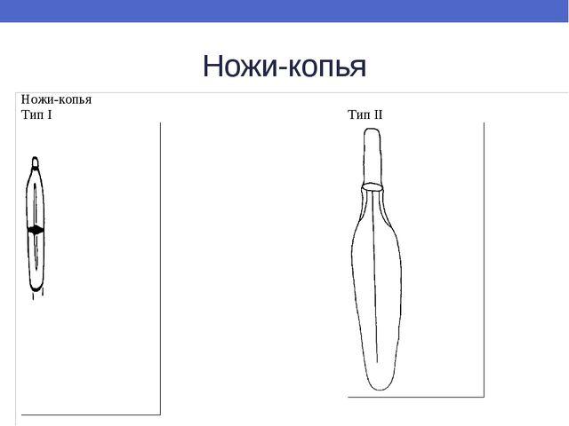 Ножи-копья