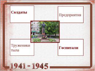 Предприятия КИНЕШМА 1941-1945 Госпитали Труженики тыла Солдаты