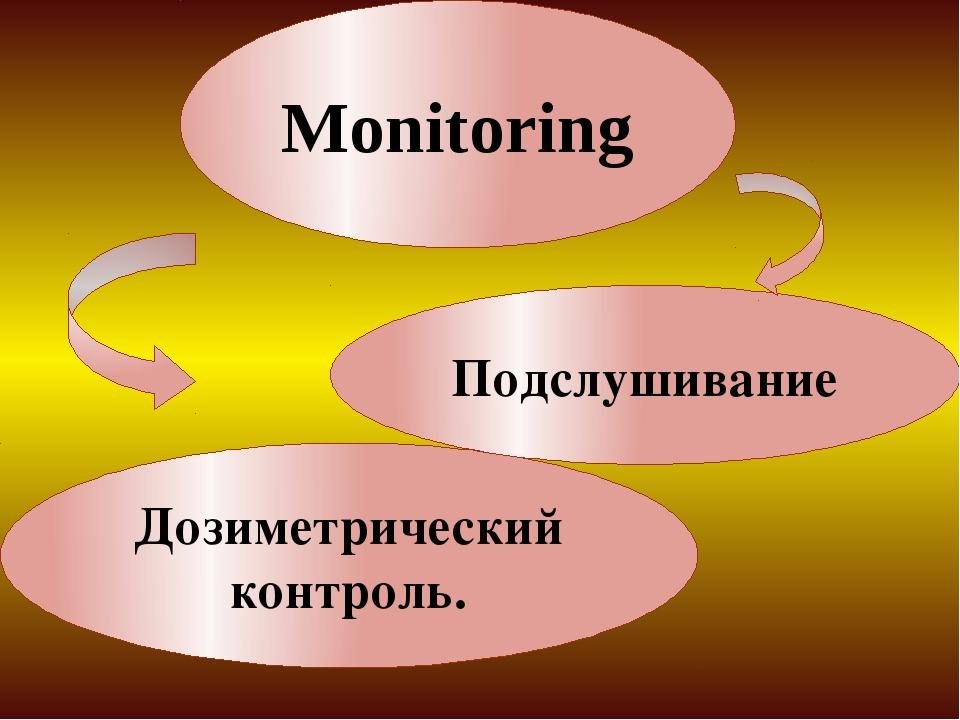 Monitoring Дозиметрический контроль. Подслушивание