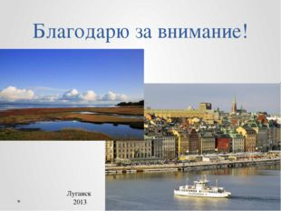 Благодарю за внимание! Луганск 2013