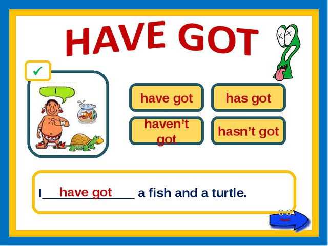 have got has got haven't got hasn't got I_____________ a fish and a turtle. h...