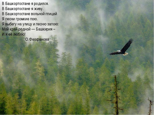 В Башкортостане я родился. В Башкортостане я живу. В Башкортостане вольной пт...