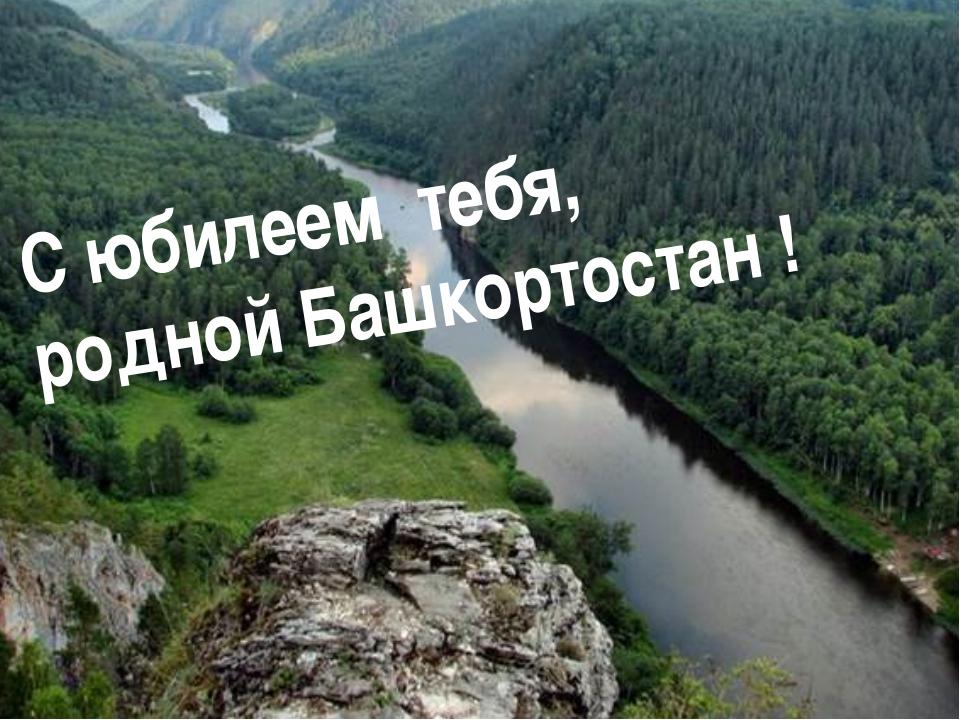 С юбилеем тебя, родной Башкортостан !