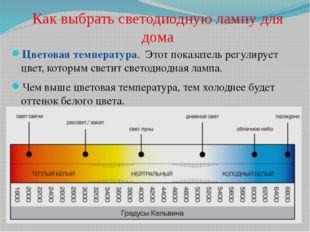 Как выбрать светодиодную лампу для дома Цветовая температура. Этот показатель