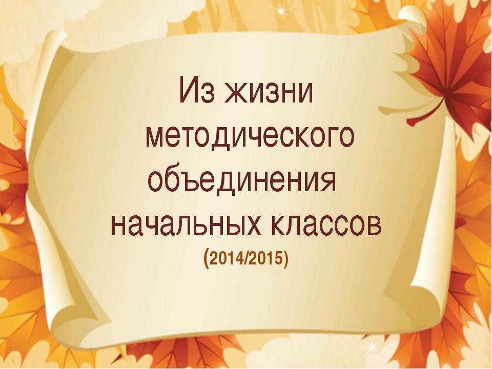 Из жизни методического объединения начальных классов (2014/2015)