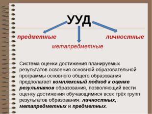 Система оценки достижения планируемых результатов освоения основной образоват