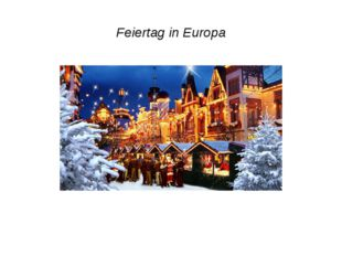Feiertag in Europa