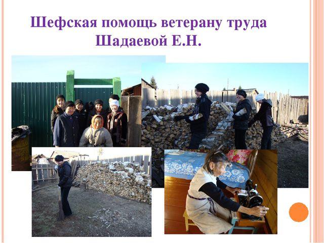Шефская помощь ветерану труда Шадаевой Е.Н.