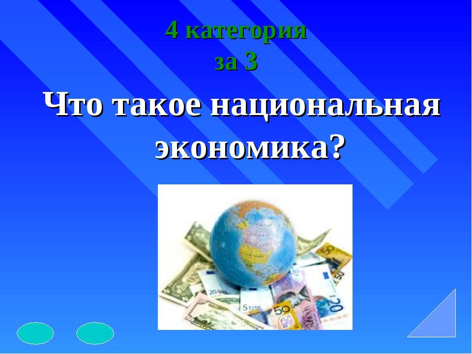 4 категория за 3 Что такое национальная экономика?