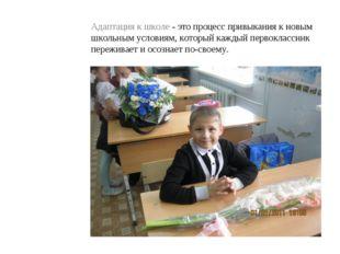 Адаптация к школе - это процесс привыкания к новым школьным условиям, который