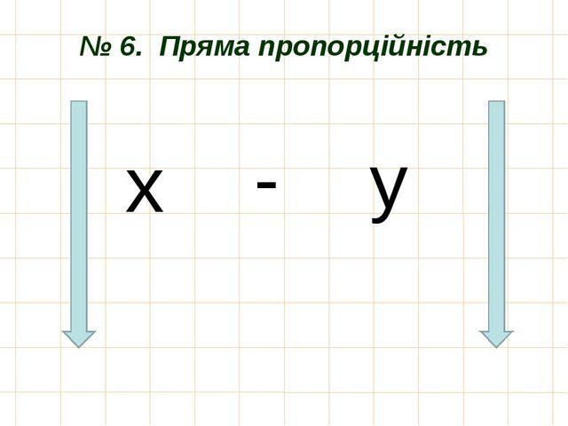 № 6. Пряма пропорційність х - у