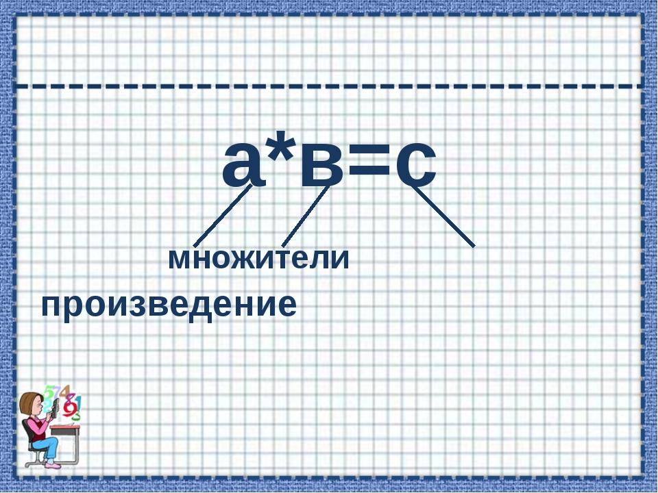 а*в=с множители произведение