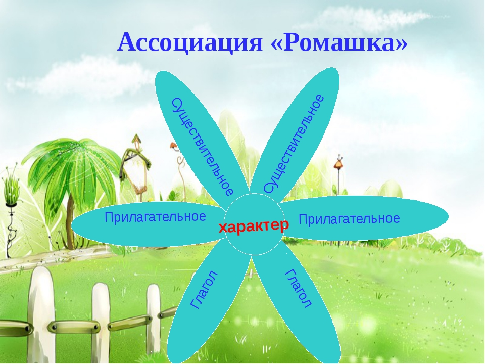 Ассоциация «Ромашка» Существительное Прилагательное Глагол Глагол Прилагатель...