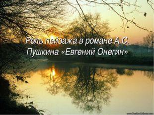 Роль пейзажа в романе А.С. Пушкина «Евгений Онегин»