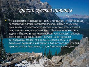 Красота русской природы Пейзаж в романе дан деревенский и городской, но преоб