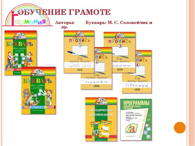 ОБУЧЕНИЕ ГРАМОТЕ Авторы: Букварь: М. С. Соловейчик и др.