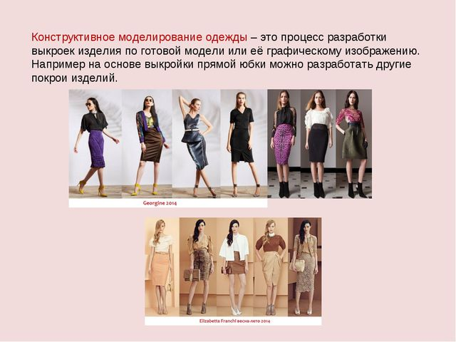 Конструктивное моделирование одежды – это процесс разработки выкроек изделия...