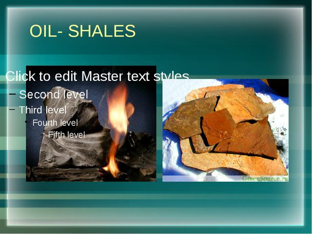 OIL- SHALES