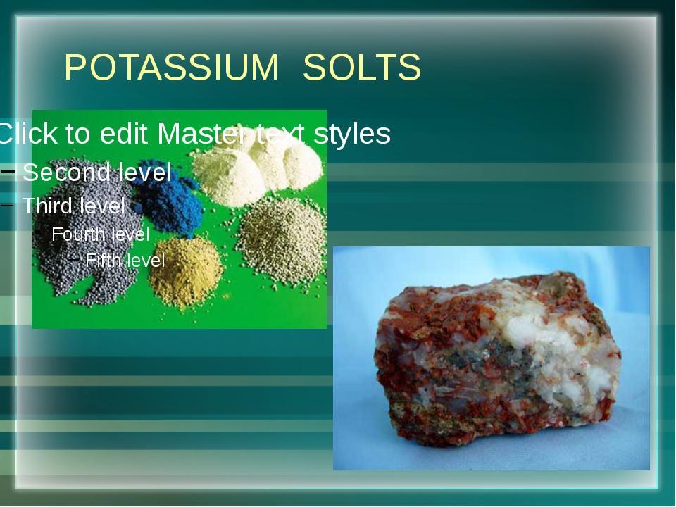 POTASSIUM SOLTS