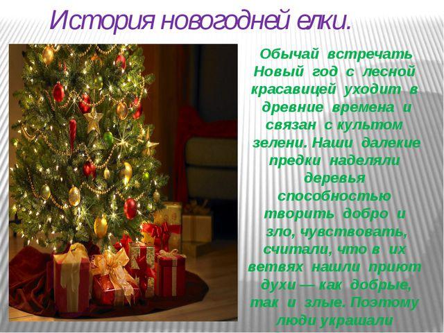 История новогодней елки. Обычай встречать Новый год с лесной красавицей уход...