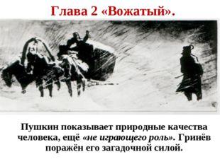 Глава 2 «Вожатый». Пушкин показывает природные качества человека, ещё «не иг