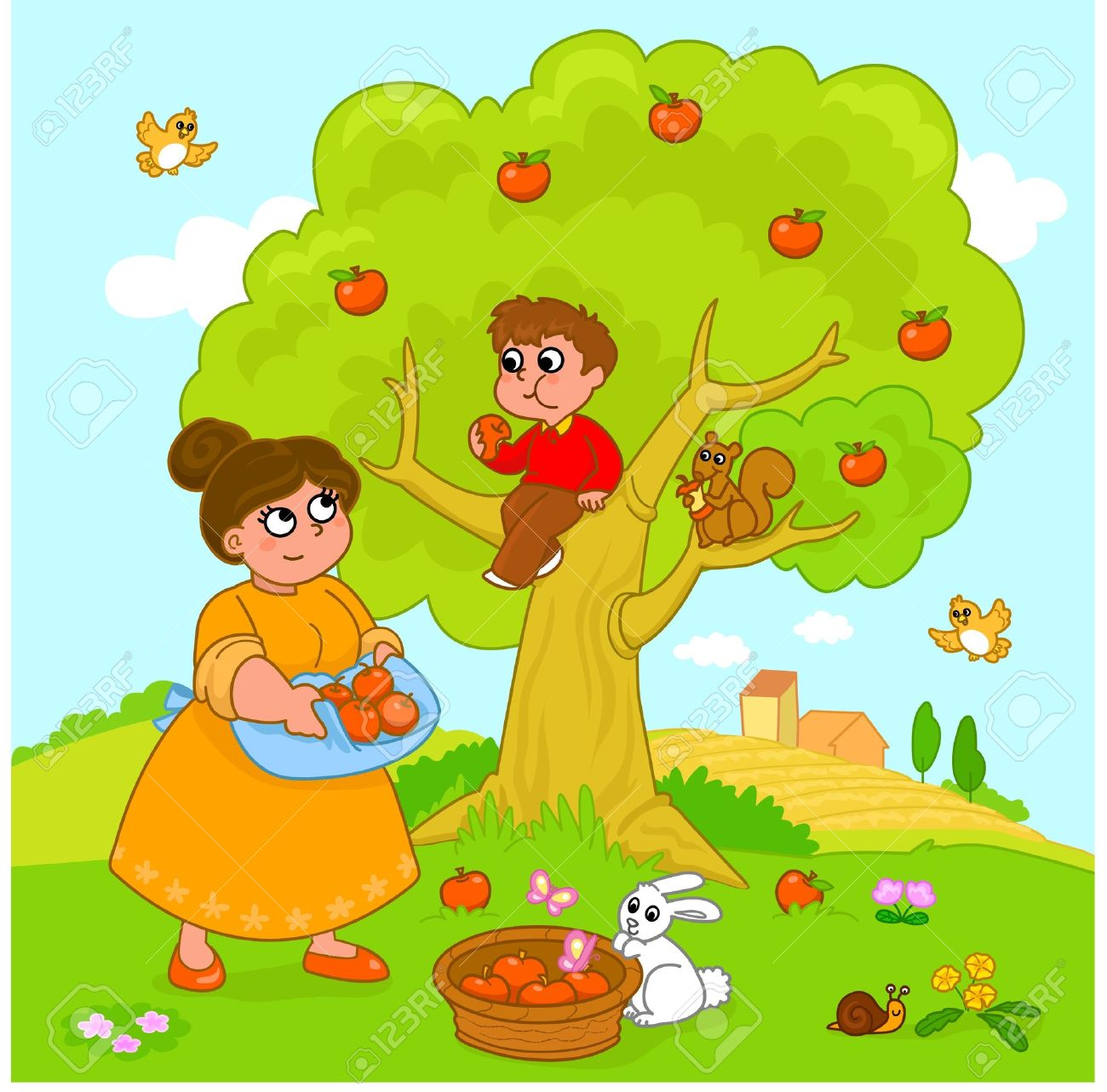 C:\Users\Константин\Desktop\9707986-Mother-and-child-picking-apples-Funny-cartoon-illustration--Stock-Vector.jpg