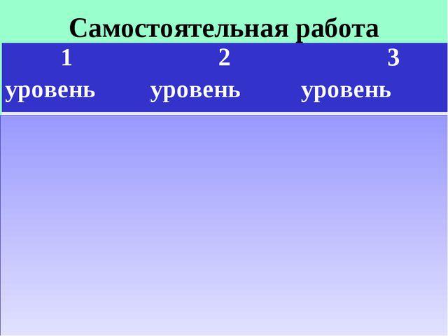 Самостоятельная работа 1 уровень 2 уровень 3 уровень 73-11=6274-60=1472-7...