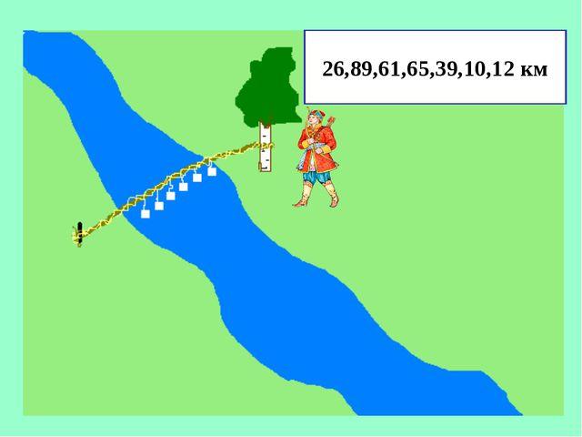 26,89,61,65,39,10,12 км