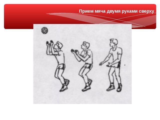 Прием мяча двумя руками сверху