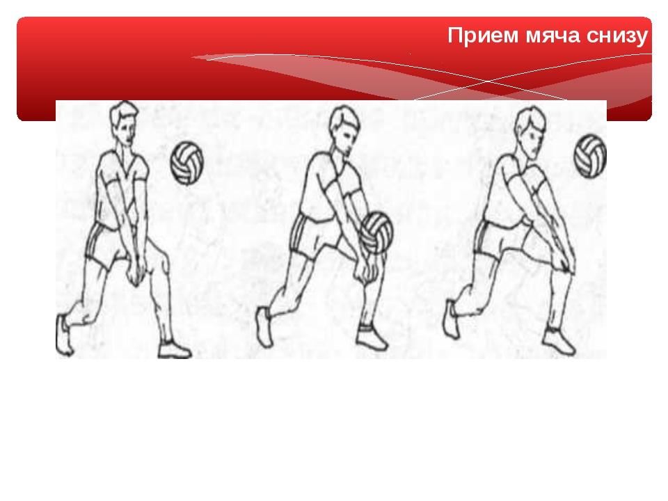 Прием мяча снизу
