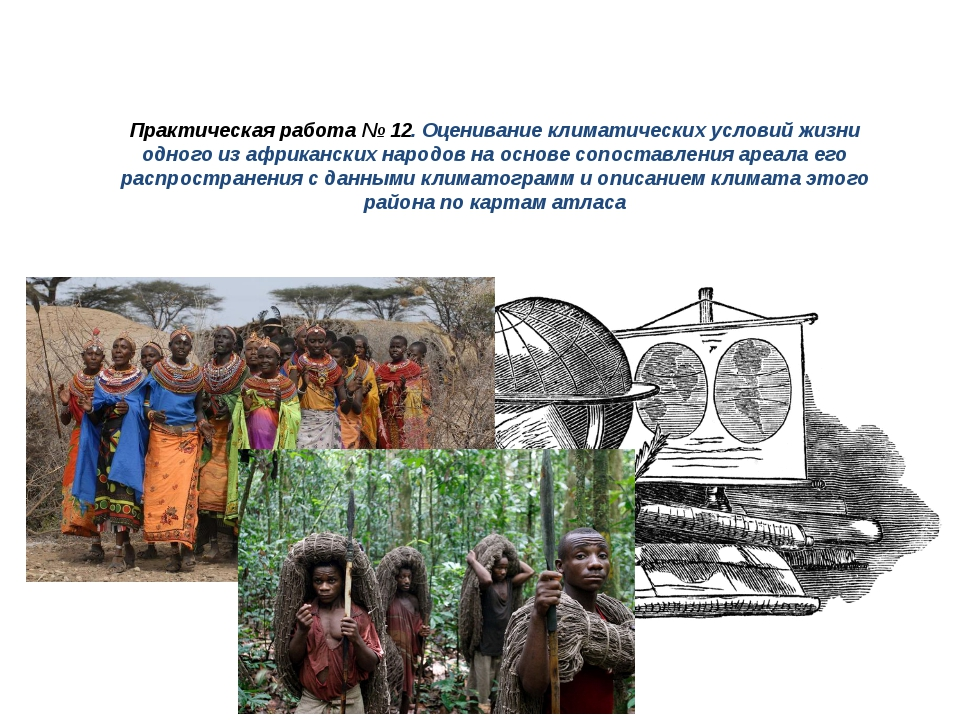 Практическая работа № 12. Оценивание климатических условий жизни одного из аф...