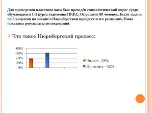 Для проведения классного часа был проведён социологический опрос среди обучаю