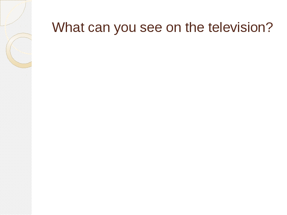 What can you see on the television?