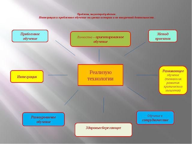 Проблема, над которой работаю: Интеграция и проблемное обучение на уроках ис...