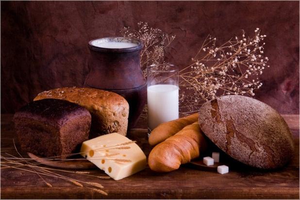 6 буханок хлеба