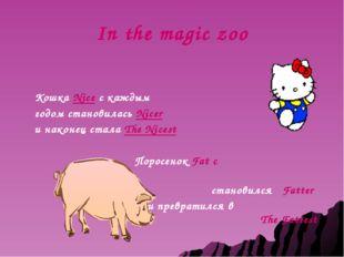 In the magic zoo Кошка Nice c каждым годом становилась Nicer и наконец стала