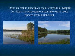 Одно из самых красивых озер Республики Марий Эл. Красота очарование и величие