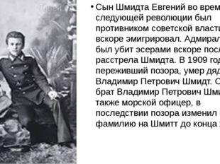 Сын Шмидта Евгений во время следующей революции был противником советской вл