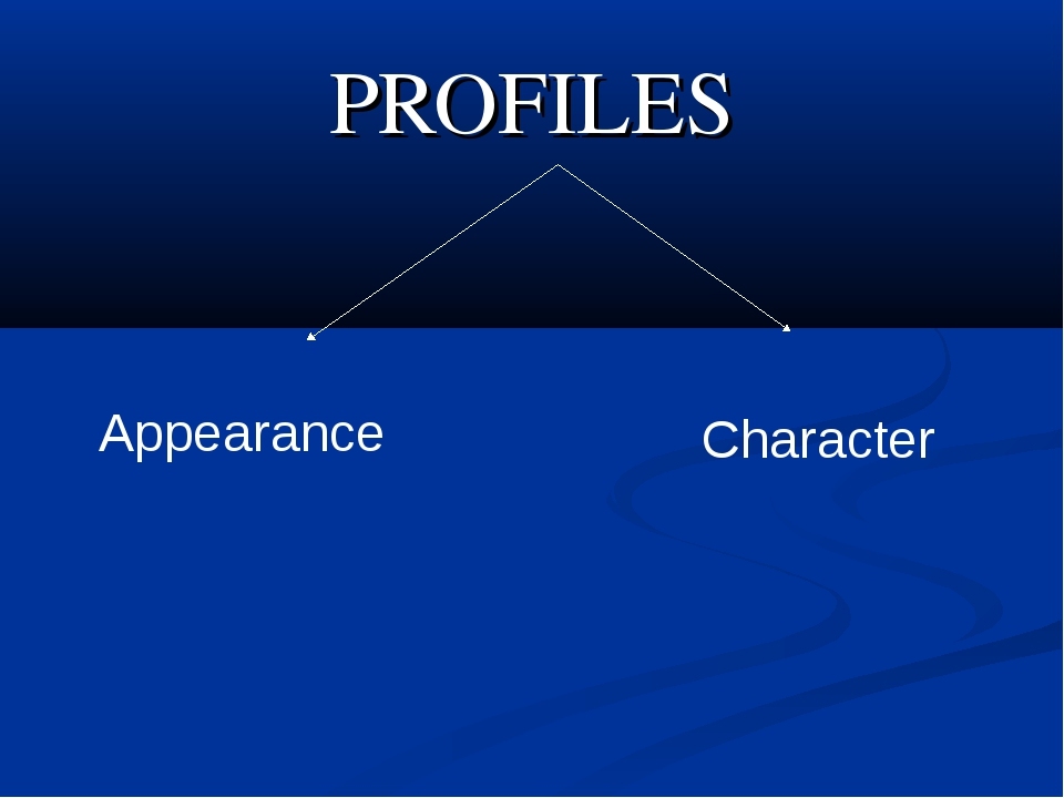PROFILES Appearance Character