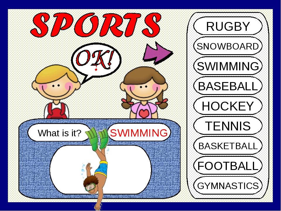 SHI What is it? SWIMMING ? RUGBY SNOWBOARD SWIMMING BASEBALL HOCKEY TENNIS BA...