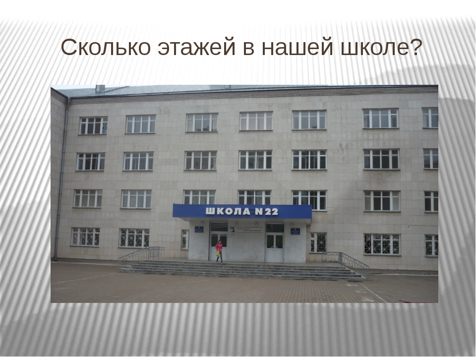 Сколько этажей в нашей школе?