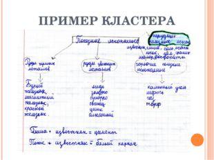 ПРИМЕР КЛАСТЕРА