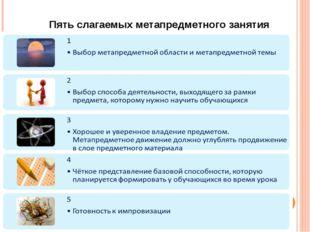 Пять слагаемых метапредметного занятия